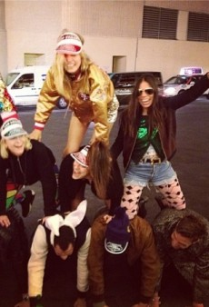 Georgia May Jagger's Human Pyramid and Other Celeb Twitpics of the Week