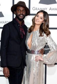 Nicole Trunfio Steals Her Boyfriend's Thunder on the Grammys Red Carpet