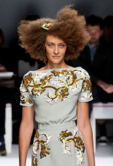 Supersized Afros and Lots of Kooky Looks for Zanini's Schiaparelli Haute Couture Debut