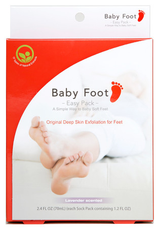 baby foot's red and white packaging