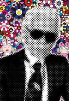 Pop Portraits of Karl Lagerfeld, Marc Jacobs and Donatella Versace by Takashi Murakami for Harper's Bazaar