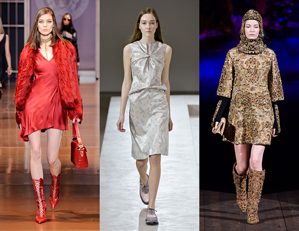 The Misses: Versace, Jil Sander, Dolce & Gabbana. Images via IMAXtree.