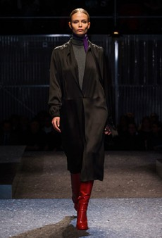Natasha Poly Returns to the Runway at the Prada Fall 2014 Show