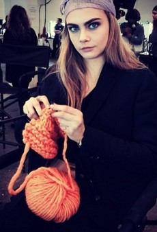 #ModelStalking: Designer Snapshots and Cara Knitting — What Really Happens Backstage at #LFW