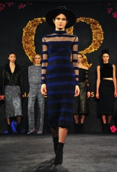 Charlotte Ronson Presents Lederhosen, Leather and Lip Imprints for Fall 2014 (Runway Review)