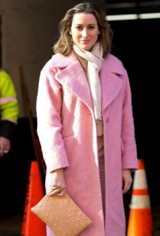 Pink Outerwear is Having a Serious Moment in Today's NYFW Street Style Fix