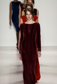 A Regal Affair — Cape Coat and All — at Tadashi Shoji Fall 2014 (Runway Review)