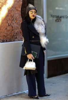 Your Daily Street Style Fix: Skirts and Dresses Get Winterized on Day Six of NYFW Fall 2014
