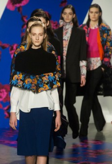 Floral Prints and Cropped Capes at Thakoon Fall 2014 (Runway Review)
