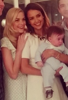 Jessica Alba Gets a Godson and Other Celeb Twitpics of the Week