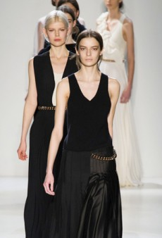 Victoria Beckham Dazzles with Looser Silhouettes and Goddess Gowns for Fall 2014 (Runway Review)