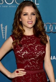Anna Kendrick Heads Backstage in an Oxblood J. Mendel Dress