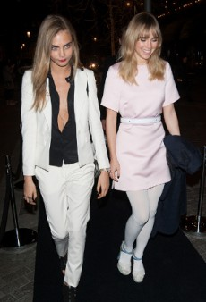 Cara Delevingne and Suki Waterhouse Party with Karl Lagerfeld