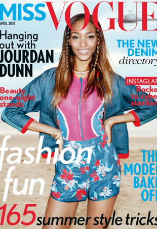 jourdan dunn miss vogue portrait