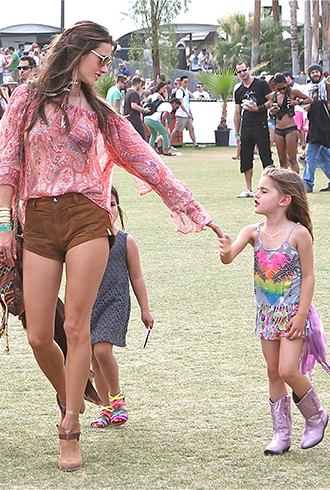 Alessandra Ambrosio Coachella daughter Anja