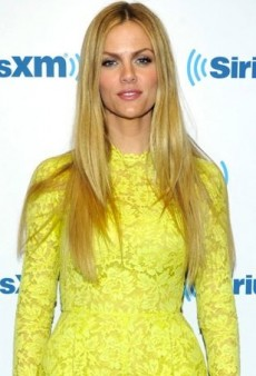 Brooklyn Decker Brightens Up SiriusXM Studios in Valentino's Neon Lace Romper
