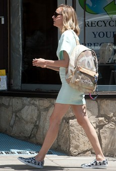 Diane Kruger Spotted Carrying Chanel's $3,800 Broke Art Student-Inspired Canvas Backpack
