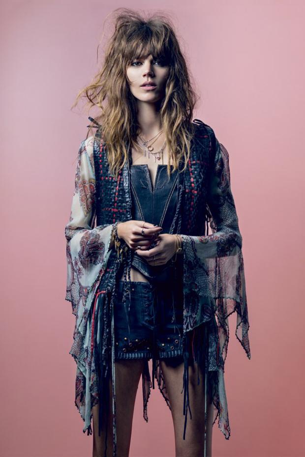 Freja Beha Erichsen styled by Kate Moss, British Vogue