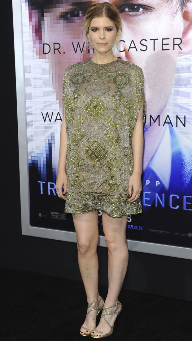 Kate Mara wears a glittering Valentino Pre-Fall 2014 dress