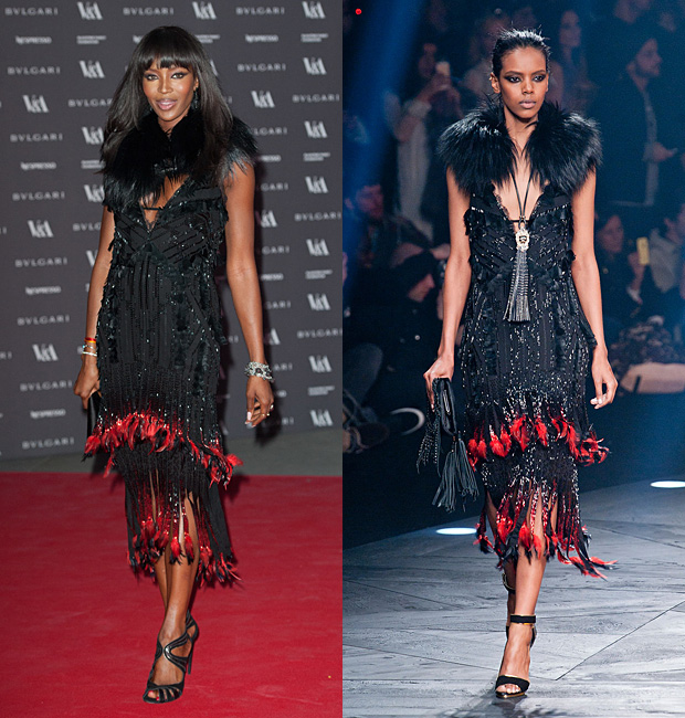 Naomi Campbell in Roberto Cavalli Fall 2014