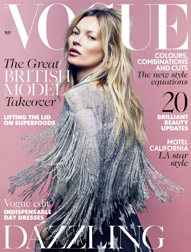 Kate Moss on cover of British Vogue