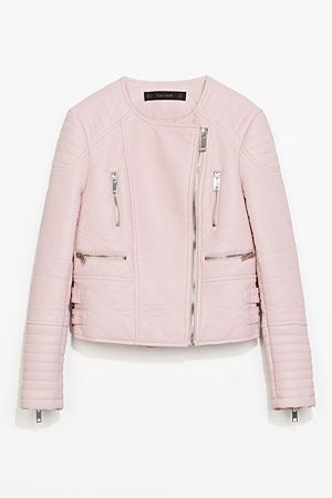 Zara-pink-leather-jacket