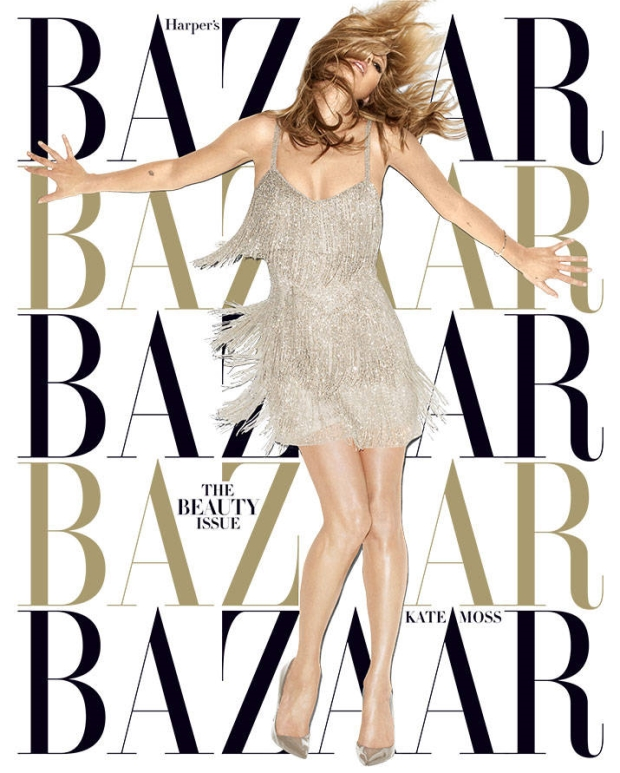 Kate Moss on cover of Harper's Bazaar by Terry Richardson