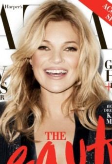 First Look at Kate Moss (in Kate Moss x Topshop) on the Cover of May Harper's Bazaar