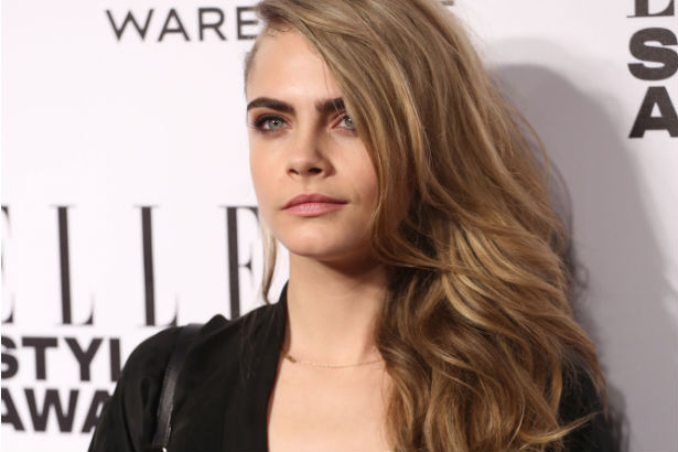 Cara Delevingne at the 2014 ELLE style awards