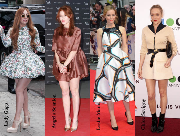Lady Gaga, Angela Scanlon, Leslie Mann and Chloe Sevigny wear flippy spring dresses