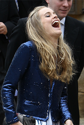 Cressida Bonas laughing