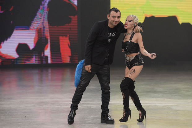 Brooke Candy performing at the Diesel show