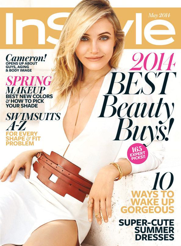 US InStyle May 2014 Cameron Diaz