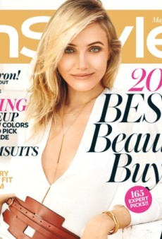 Cameron Diaz Wears White Donna Karan on InStyle's May Cover