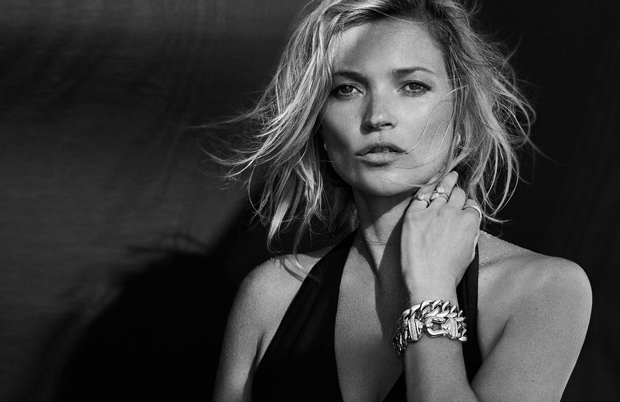 Kate Moss by Peter Lindbergh for David Yurman Fall 2014 Ad Campaign