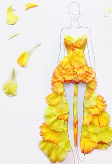 This Artist Uses Flower Petals to Create Extraordinary Fashion Designs