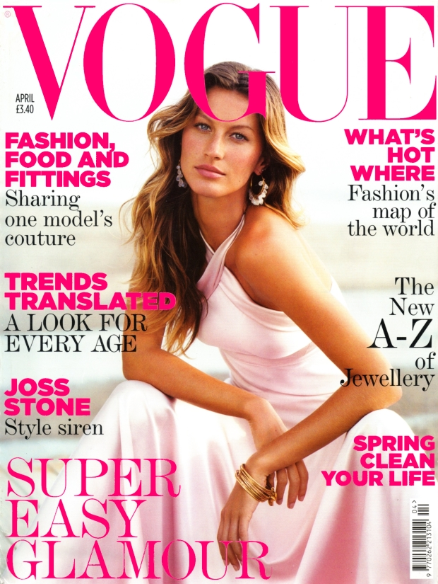 Flashback UK Vogue April 2005 Gisele Bundchen
