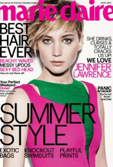 Jennifer Lawrence Covers Marie Claire, Says Tripping Incident on Oscars Red Carpet Was Unintentional