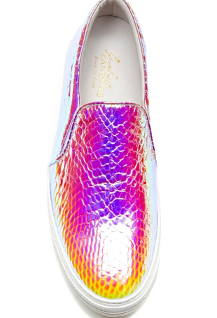 metallic hologram sneakers
