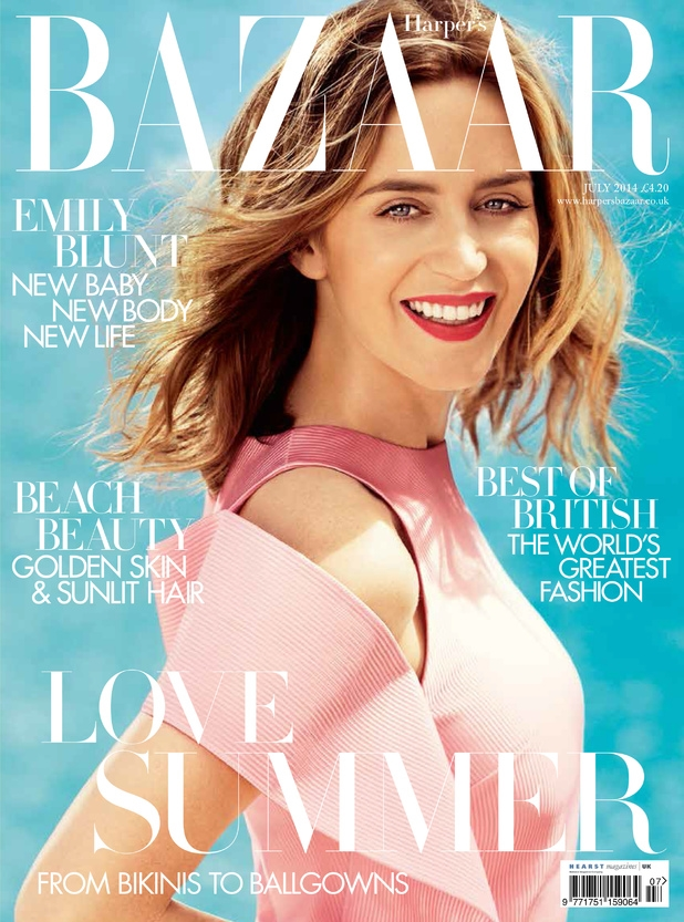 UK Harper's Bazaar July 2014 Emily Blunt