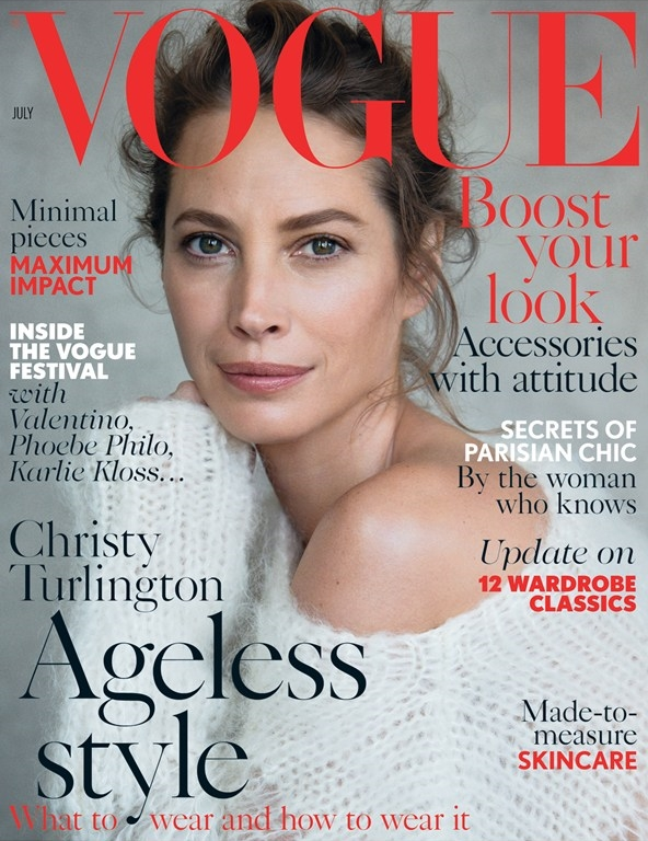 UK Vogue July 2014 Christy Turlington