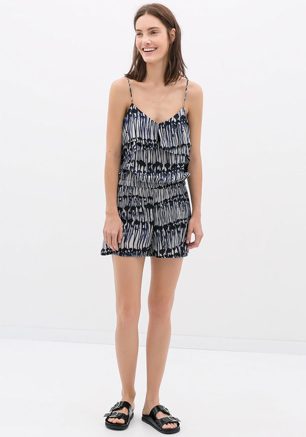 Zara Printed Playsuit, $59.90