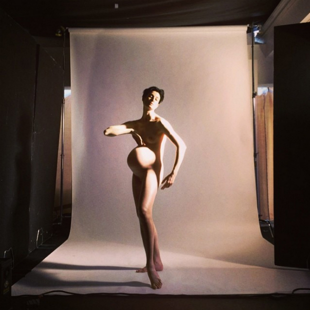Erin O'Connor Poses Nude and Pregnant for Nick Knight
