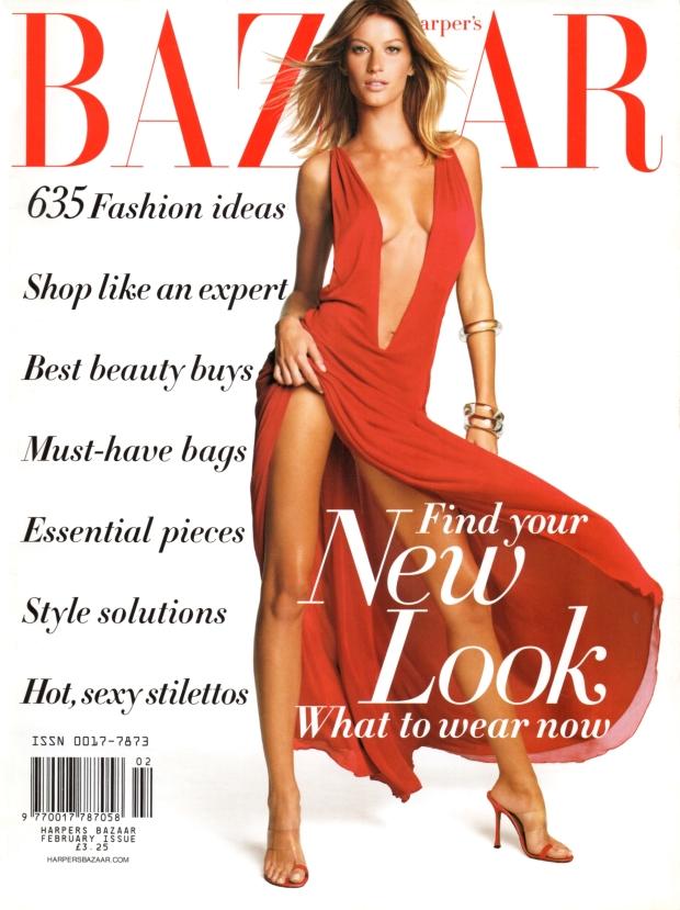 Flashback US Harper's Bazaar February 2002 Gisele Bundchen Patrick Demarchelier