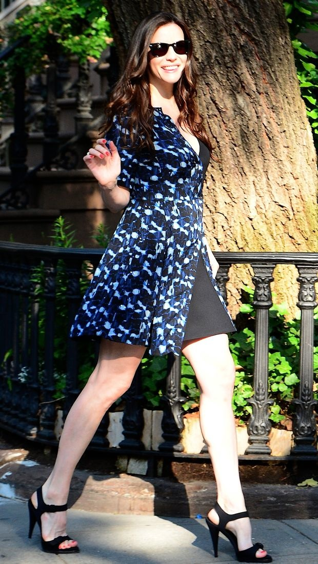 Liv Tyler heads to the studio in Proenza Schouler