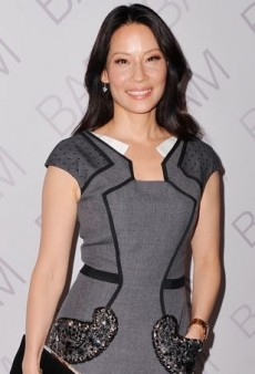 Lucy Liu Introduces a Little Glitz to a Gala in Andrew Gn's Embellished Pocket Dress