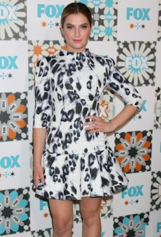 Zoe Levin Wears Camilla and Marc's Leopard Cocktail Dress