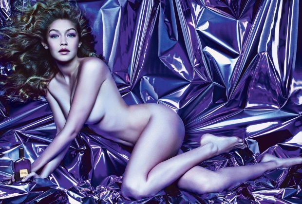 Ad Campaign Tom Ford Violet Orchid Gigi Hadid