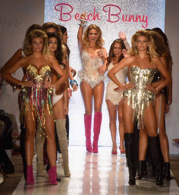 Designer Angela Chittenden and models walk the runway with TRESemme at the Beach Bunny Featuring The Blonds 2015
