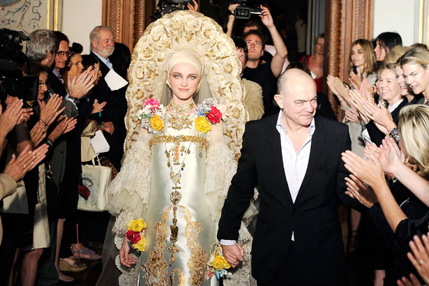 Christian Lacroix: Paris Fashion Week Haute Couture Fall 2009; image: Getty